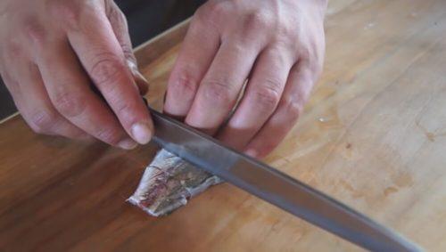 アジ刺身 切り方